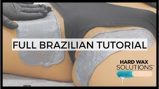 BIKINI LINE / BRAZILIAN WAXING TUTORIAL WITH HARD WAX