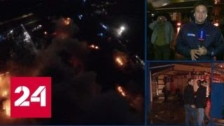На складе пластиковых изделий в Москве бушует пожар: рассказы очевидцев