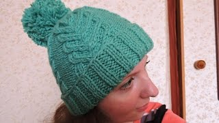 Вязание спицами: женская шапка // Knitting. Women's winter hat(, 2015-02-21T10:32:12.000Z)