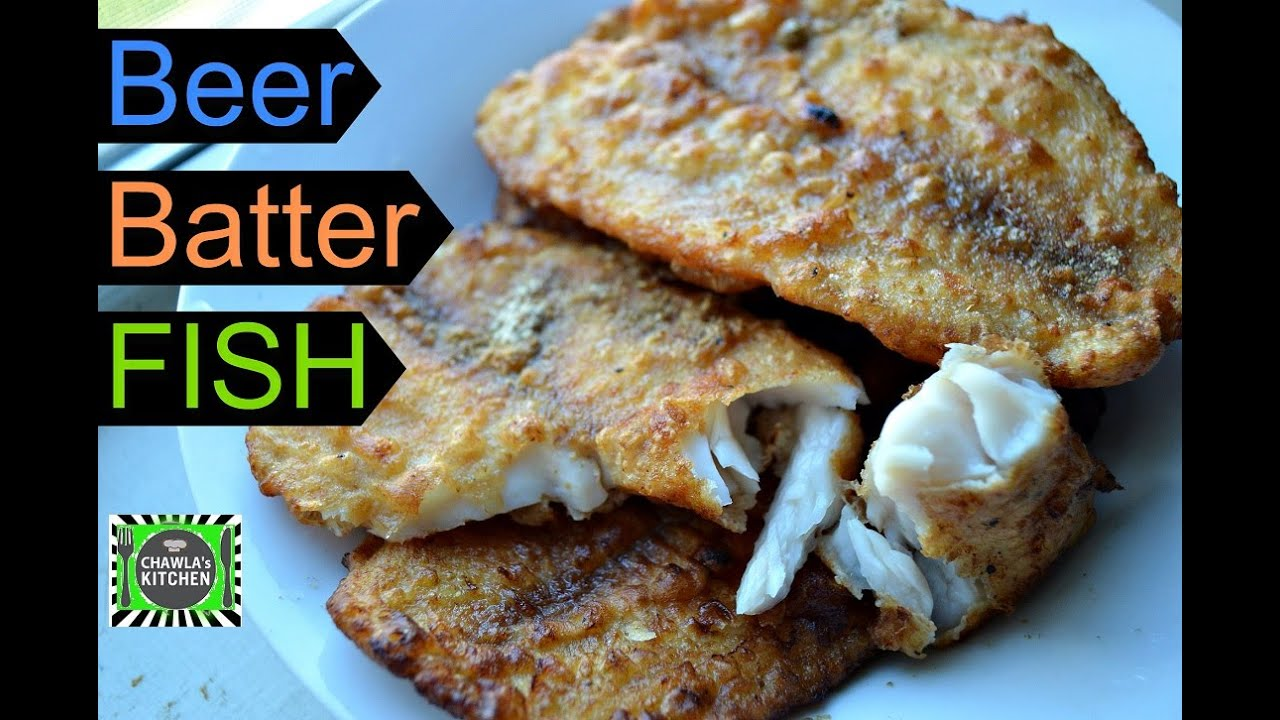 Beer batter fish crispy yummy fish fry instant easy for How to make fish batter