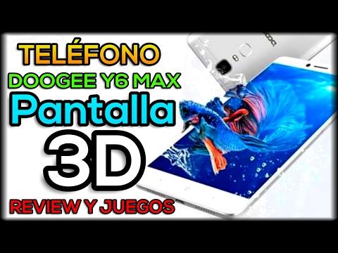 INCREIBLE Y ECONOMICO TELEFONO CON PANTALLA 3D - DOOGEE Y6 MAX 3D - JUEGOS Y REVIEW