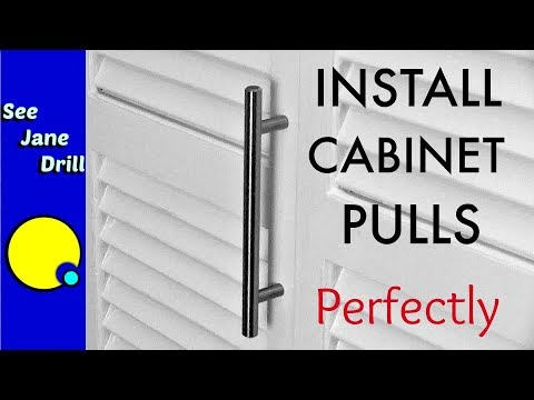 How to Install Perfectly Spaced Cabinet Door Pulls - YouTube