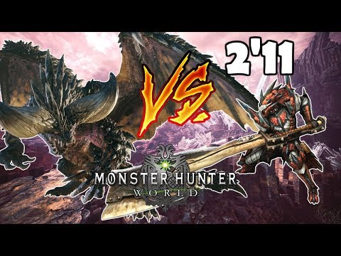 HACHA ESPADA vs NERGIGANTE solo (2'11) - Monster Hunter World (Gameplay Español) thumbnail