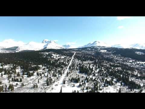 Chugach Mountains in ALASKA(드론 촬영)