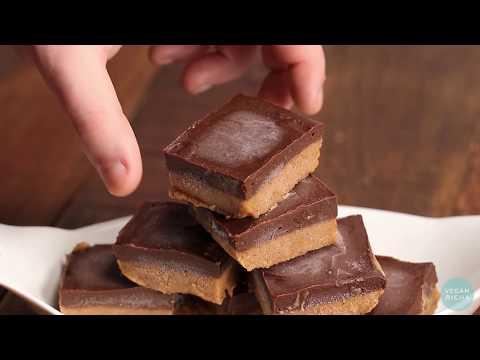 CHOCOLATE ALMOND/PEANUT BUTTER FUDGE BARS ! Vegan Richa Recipes