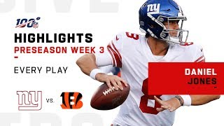 Every Daniel Jones Play vs. Bengals | NFL 2019 Highlights