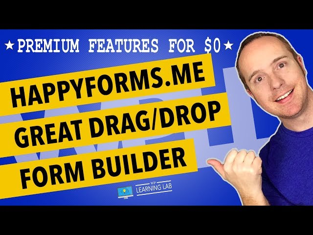 HappyForms - Build WordPress Forms With This Drag And Drop Form Builder (includes Live Preview)
