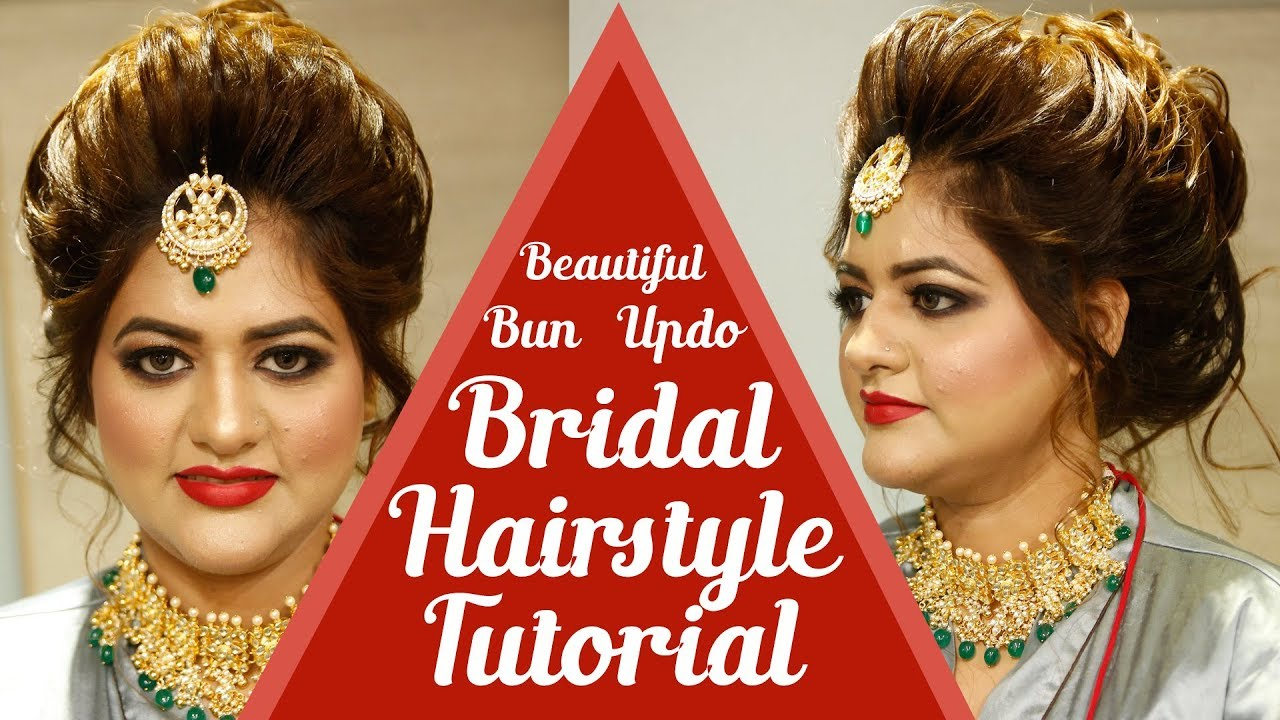 bridal hairstyle tutorial for long hair | bridal makeup tutorials | makeup diys | krushhh by konica