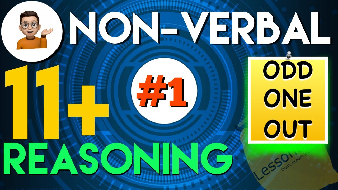 hight resolution of 11 Plus Non Verbal Reasoning - Type 1 : Odd one out   Lessonade - YouTube