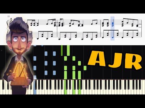 AJR - Sober Up - Piano Tutorial + SHEETS