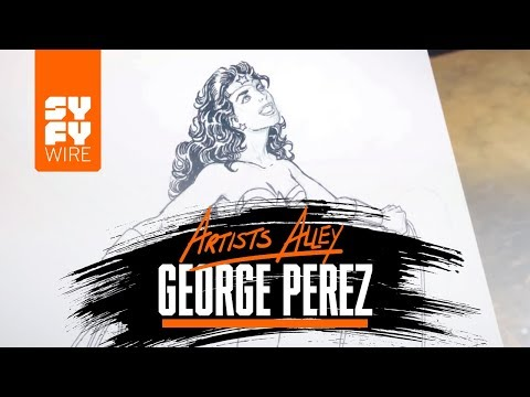 Comic Book Artist George Perez Sketches Wonder Woman | SYFY WIRE