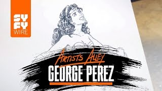 George Perez Sketches Wonder Woman (Artists Alley) | SYFY WIRE