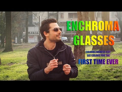 Italian Colorblind Guy See Colors For The First Time! - EnChroma Glasses