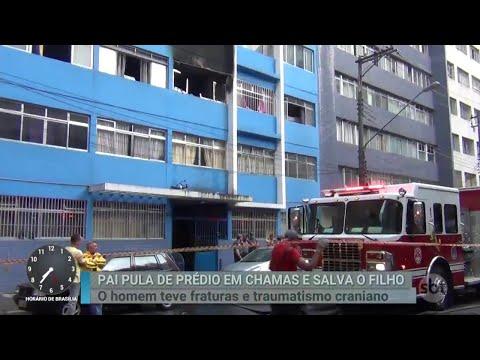 SP: Homem pula de prédio em chamas com bebê no colo   Primeiro Impacto (11/06/18)