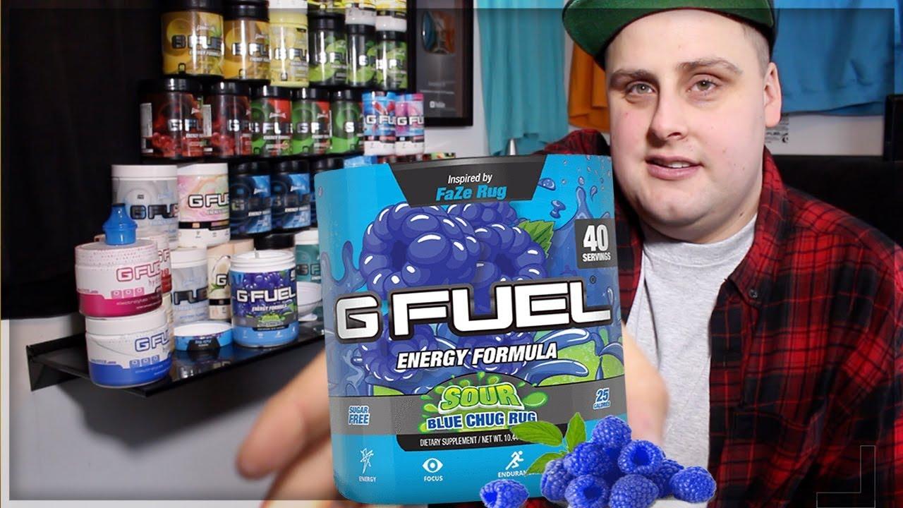 Gfuel Sour Blue Chug Rug Taste Test Review Youtube
