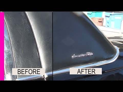 How to restore and protect your Vinyl Top and Trim 1 step Fast and Best way