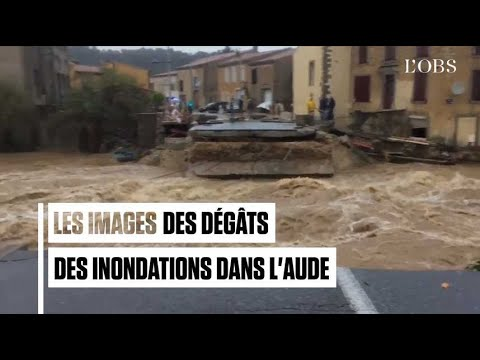 Les images des dégâts des inondations dans l'Aude