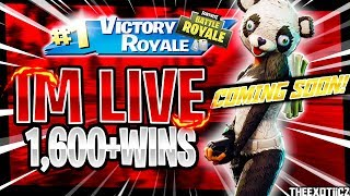 NEW* SKINS COMING SOON! | RANK#10 PS4 SOLO PLAYER! | 1,598 SOLO WINS | Fortnite Battle Royale LIVE