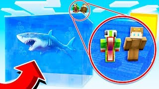 SURVIVING ON A GIANT WATER BLOCK IN MINECRAFT! WITH UnspeakableGaming