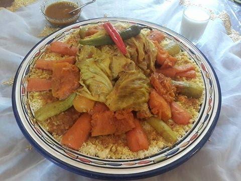 مطبخ رجاء: سروطريقة تحضير الكسكس المغربي للمبتدئات - -Couscous marocain aux légumes