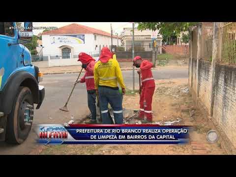 Prefeitura de Rio Branco realiza operação de limpeza em bairros da Capital