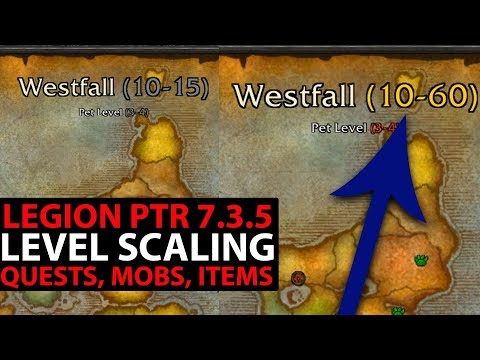 World Of Warcraft Legion PTR 7.3.5 - NEW LEVEL SCALING COMPARED - Old Zone Levels VS New!