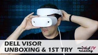 Dell Visor Windows MR Headset Unboxing & Lenovo Explorer Comparison
