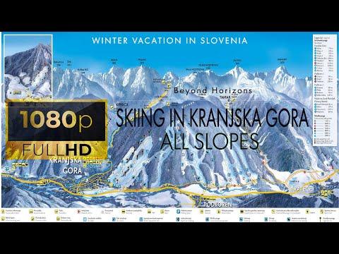 Skiing in Kranjska gora (Slovenia) - all slopes