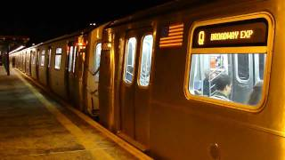 BMT Astoria Line: R160B/R160A-2 Q Train with #8683-#8687 LED Interior Lights at 36th Ave