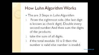 Luhn Algorithm