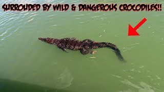 THE HAUNTED BLACK RIVER WE WERE SURROUNDED BY WILD MAN EATING CROCODILES!!