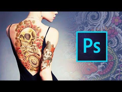Photoshop CC   Tatuaje Realista En La Piel (Tattoo)   Tutorial Español