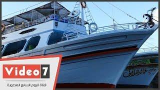 بالفيديو.. مرحلة تطوير صناعة السفن فى عزبة البرج