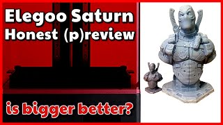 Elegoo Saturn Prototype Review | 3D Resin Printer Beta version preview by VOG