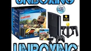 UNBOXING PlayStation 3 250GB Little Big Planet Karting Move Wal-Mart Exclusive Bundle