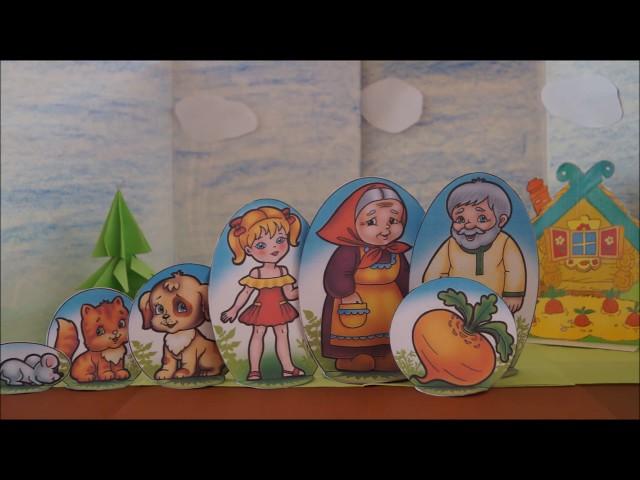 Изображение предпросмотра прочтения – СветланаКорюзлова читает произведение «Русская народная сказка Репка» (Русский фольклор )