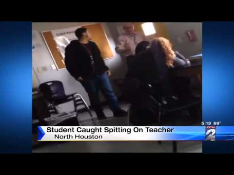 Video shows Sam Houston High School student apparently spitting at teacher