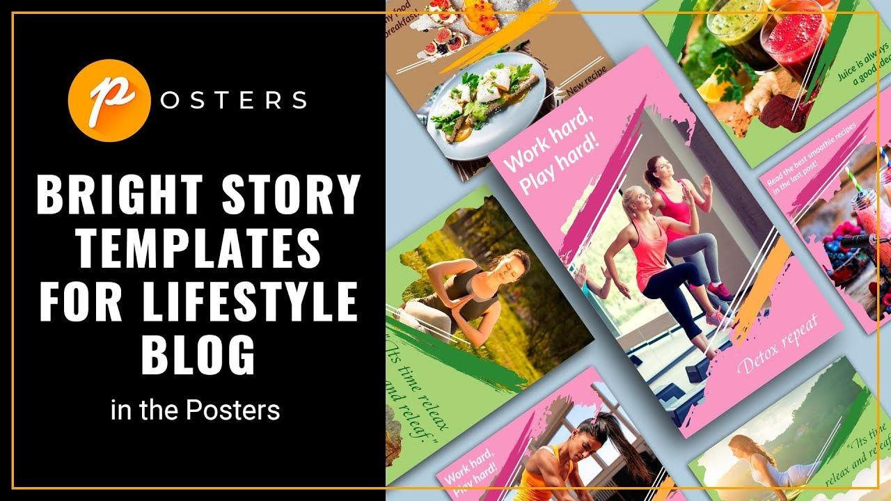 Lifestyle Blog Instagram New Bright Templates For Lifestyle Blog Instagram Post Story Templates Posters App