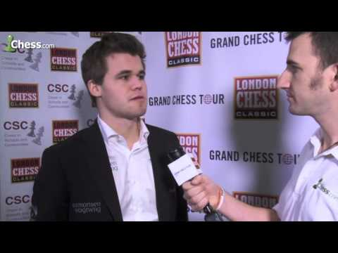 Magnus Carlsen On His Game With Viswanathan Anand At The London Chess Classic