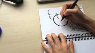 Sketching, drawing, colouring, a la Yang Haiying