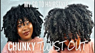My GO TO 4C CHUNKY TWIST OUT !! MY FAVORITE HAIRSTYLE | Bubs Bee