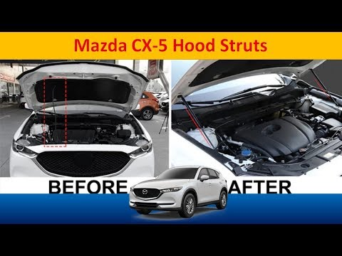 How to install hood struts to a Mazda