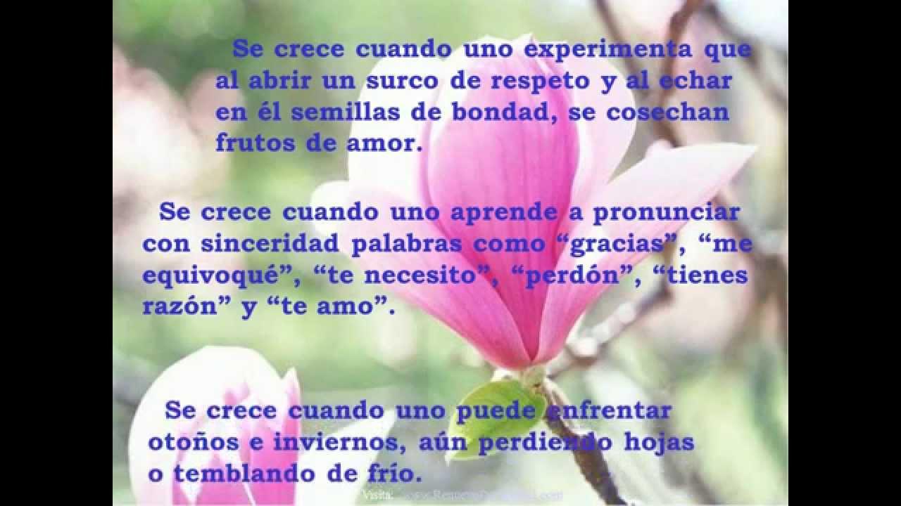 Reflexiones Románticas De: SE CRECE -REFLEXIONES CRISTIANAS-REFLEXIONES DE AMOR