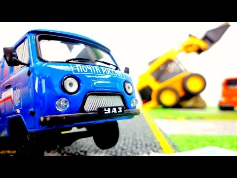 Toys And Toy Cars On #PlayToyTV. Toy Cars Videos With Toy Trucks & Bruder Excavator. Рабочие машины.