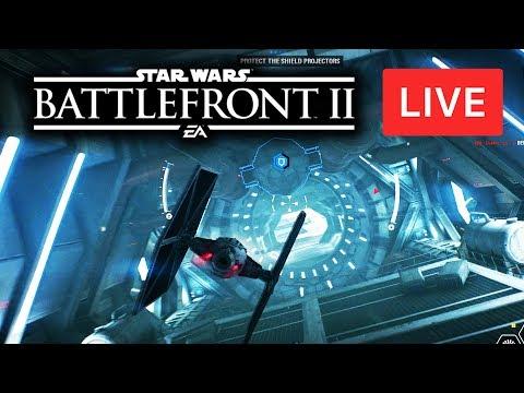 Star Wars Battlefront 2 LIVE - Epic Space Battles Multiplayer Gameplay! Starfighter Assault!