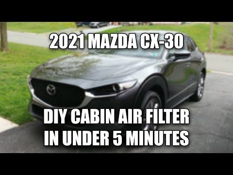 2021 MAZDA CX-30 DIY CABIN AIR FILTER REPLACEMENT