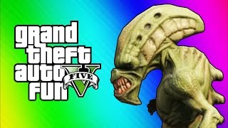 GTA 5 Online Funny Moments - Tow Truck Tornado Glitch & Aliens (GTA 5 Fun Jobs)