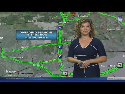 Round Rock diverging diamond now complete