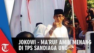 Jokowi-Ma'ruf Menang di TPS Sandiaga