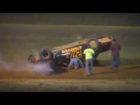 Dog Hollow Speedway - 7/3/16 Pure Stock Wreck!